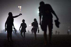 An evening walk on Copacabana beach during the 2016 Olympics in Rio de Janeiro, Brazil