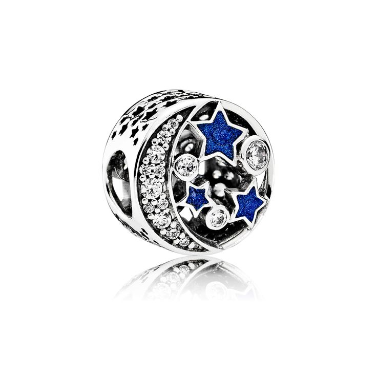 PANDORA | Vintage Night Sky, Shimmering Midnight Blue Enamel & Clear CZ