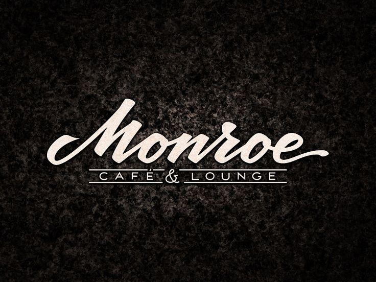 Monroe Café & Lounge. Hand-lettering logo