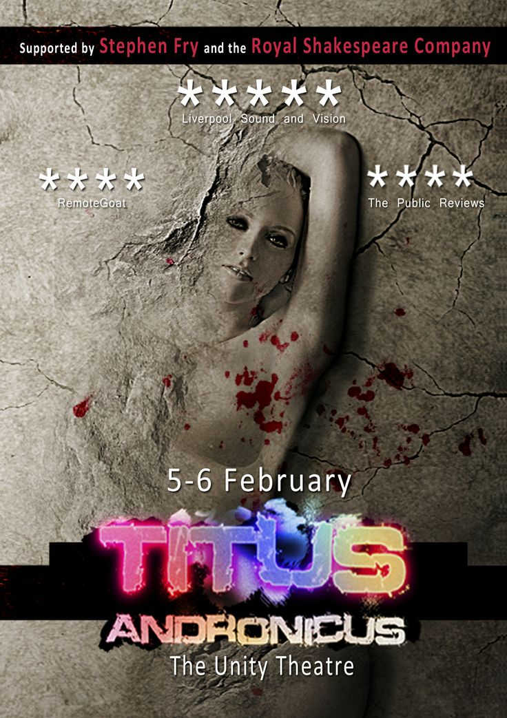 Flyer design for our revival of Titus Andronicus