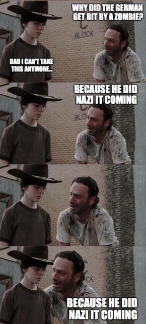 Best Meme from The Walking Dead with Rick and Carl or is it Carol?