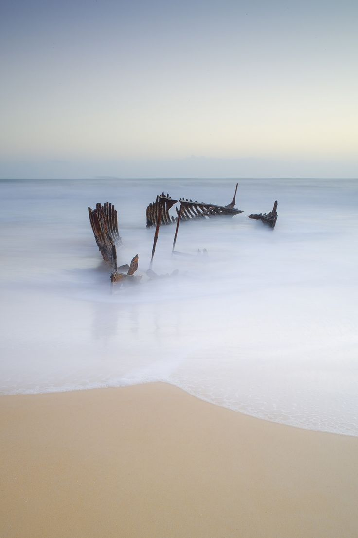 Shipwreck at Dicky Beach by Byron Prukston