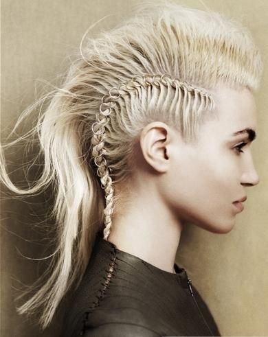 #Skeleton #Hair  That is some french braid. Very creative and artful, but somehow, I don't think I'd feel comfortable wearing vertebrae in my hair...even if it was pretend.  I'm not that brave...but can respect the cool factor very much...