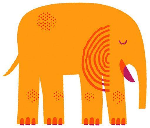 Elephant by Brian Michael Gossett for People for Bikes (via designworklife)
