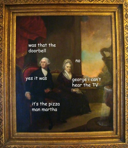Someone decided to add captions to the adventures of George Washington.