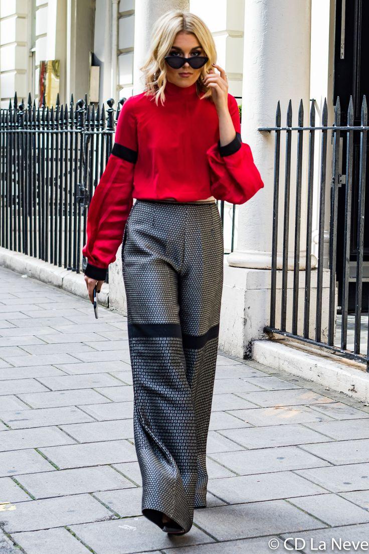 Tallia Storm London Fashion Week DAKS Street Style SS18 LFW #londonfashionweeks,