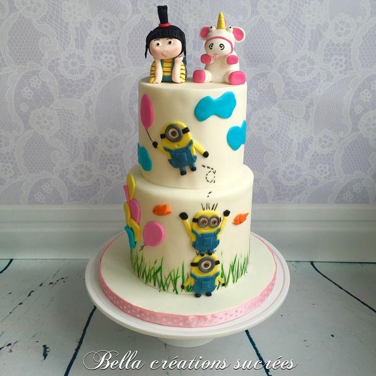 Agnes despicable me cake