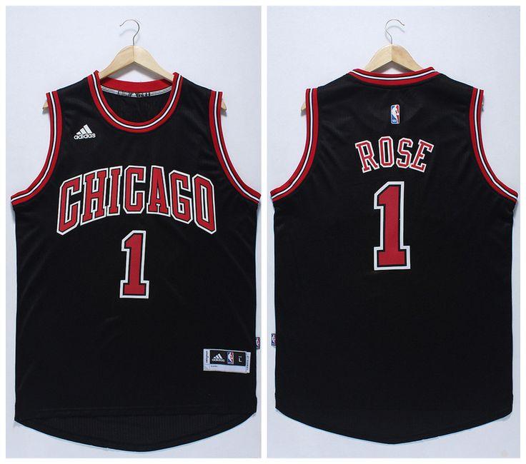 new product 65bae 72c91 nba jerseys chicago bulls 1 derrick rose black limited ...