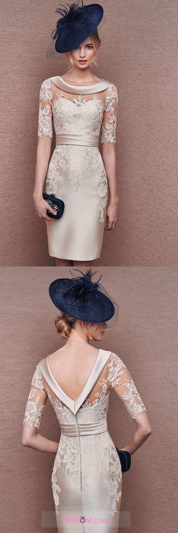 2016 Satin Mother Of The Bride Dresses Cowl Neck Half Sleeve With Applique Item Code:#JRPNCKB7Q9