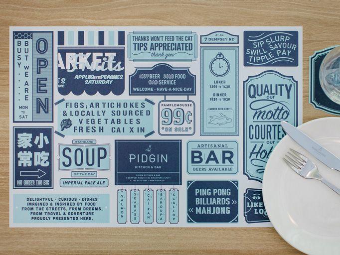 Art of the Menu: Pidgin Kitchen & Bar
