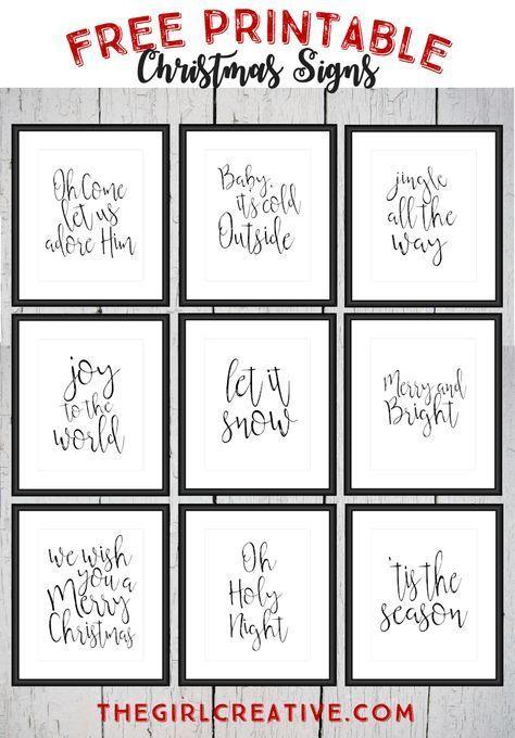 Free Printable Christmas Signs | Holiday Word Art