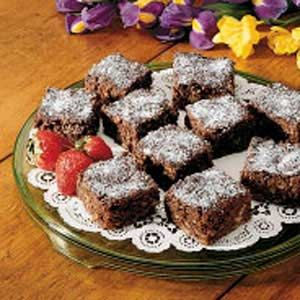 Banana Nut Brownies Recipe -This recipe comes from my Grandma Schlientz. Anytime there are ripe bananas around our house, it's Banana Nut Brownie time! People are always surprised to learn there are bananas in the brownies.