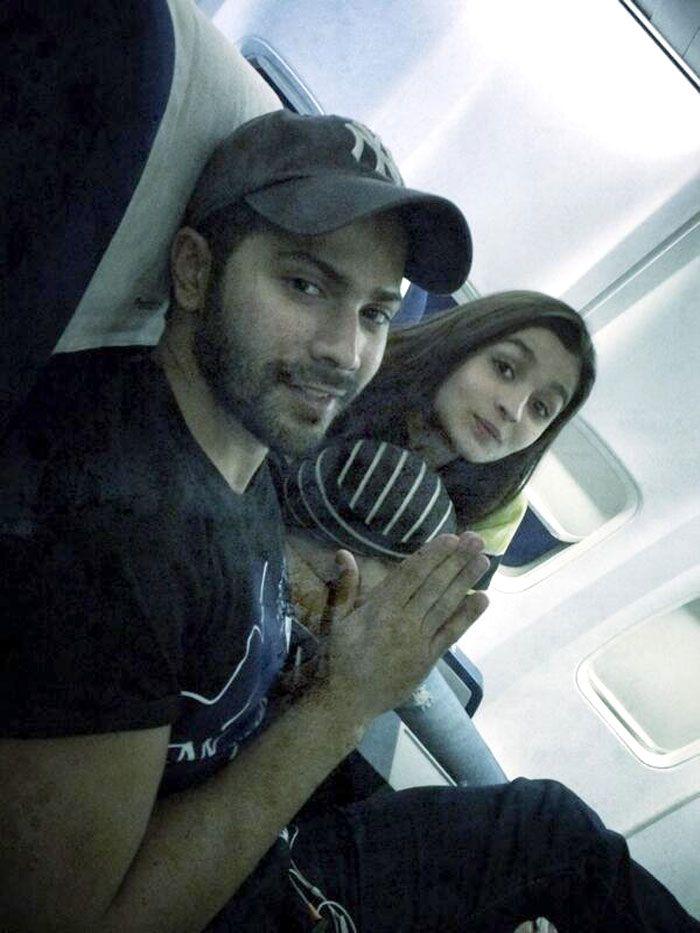 Alia Bhatt with Varun Dhawan #Style #Bollywood #Fashion #Handsome #Beauty
