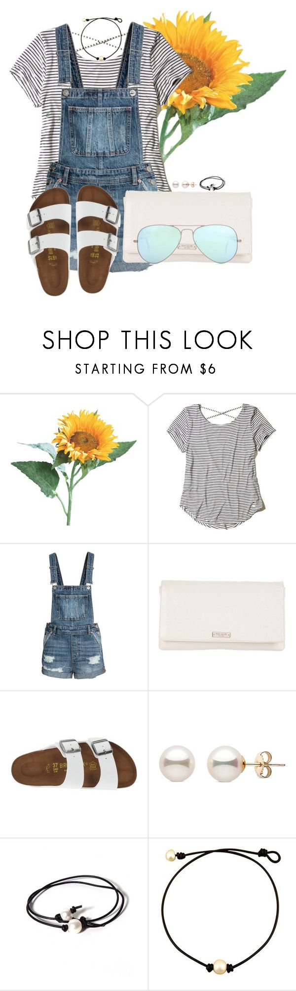 """""""Set #3 By My Little Brother!"""" by annaewakefield ❤ liked on Polyvore featuring Hollister Co., Kate Spade, Birkenstock, Joie and Ray-Ban"""