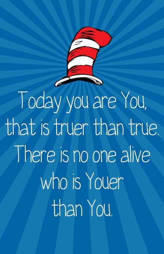 12x18 Dr Seuss Youer Print by charmstudio on Etsy, $10.00