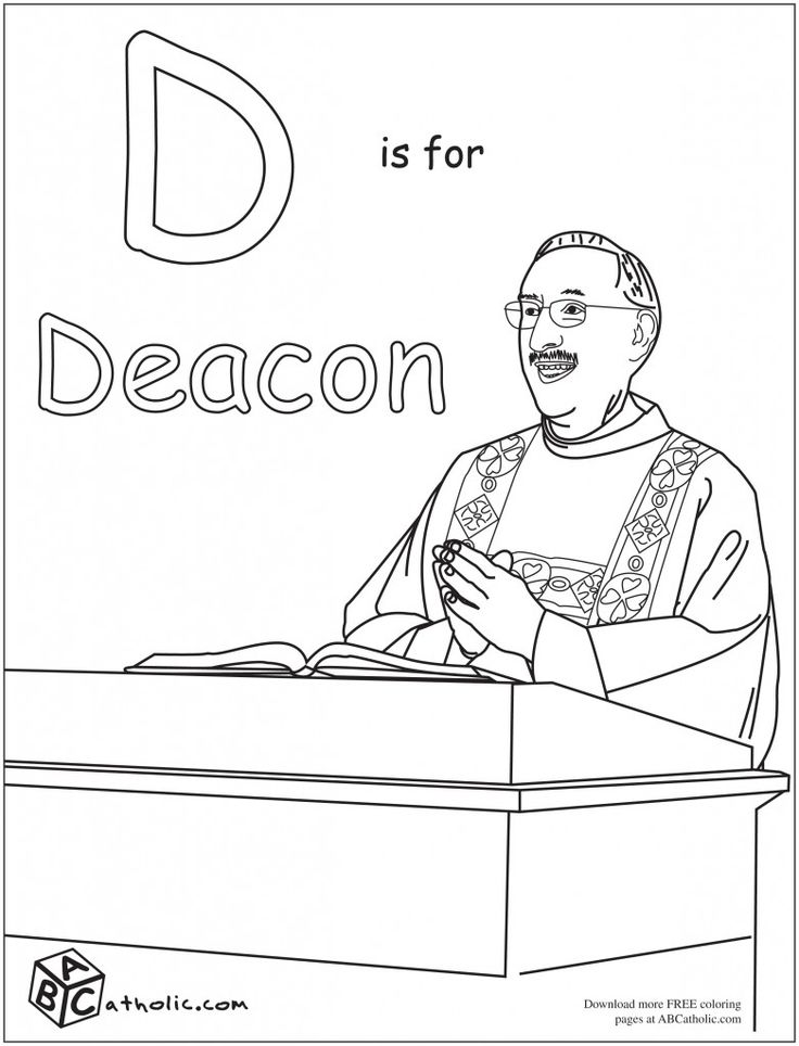 abc catholic coloring pages - photo#17