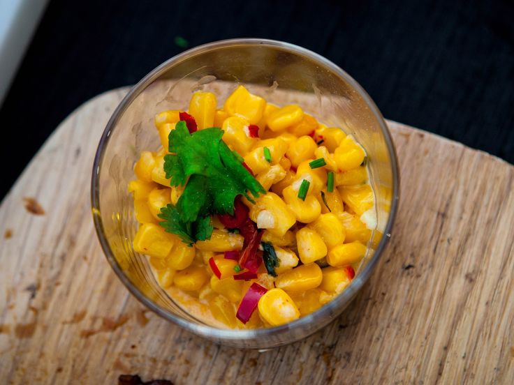 Creamed corn med chili och koriander | Recept från Köket.se