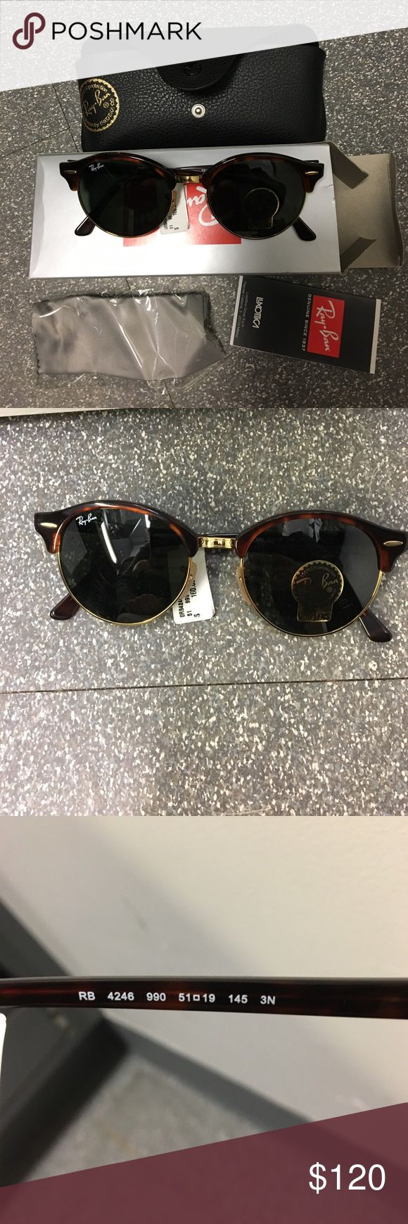 Ray Ban Round Clubround Havana Tortoise Sunglasses NWT RAY BAN ROUND TORTOISE SUNGLASSES. Never worn. I got these for my birthday and love them but already have a similar pair from illesteva. Never worn and comes with everything you see pictured. Make me an offer! Ray-Ban Accessories Sunglasses