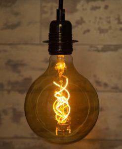 Double Spiral 7W Extra Large Flex LED Globe Bulb