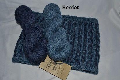 Halsrør i 2 farvet snoning - strikket i Herriot fra Juniper moon