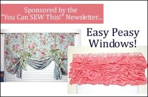 Easy Peasy Window Coverings!