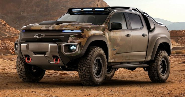 Chevy Created This Badass Colorado ZH2 Fuel Cell Vehicle For The US Army #Chevrolet #Chevrolet_Colorado