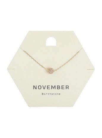 November Birth Stone Necklace