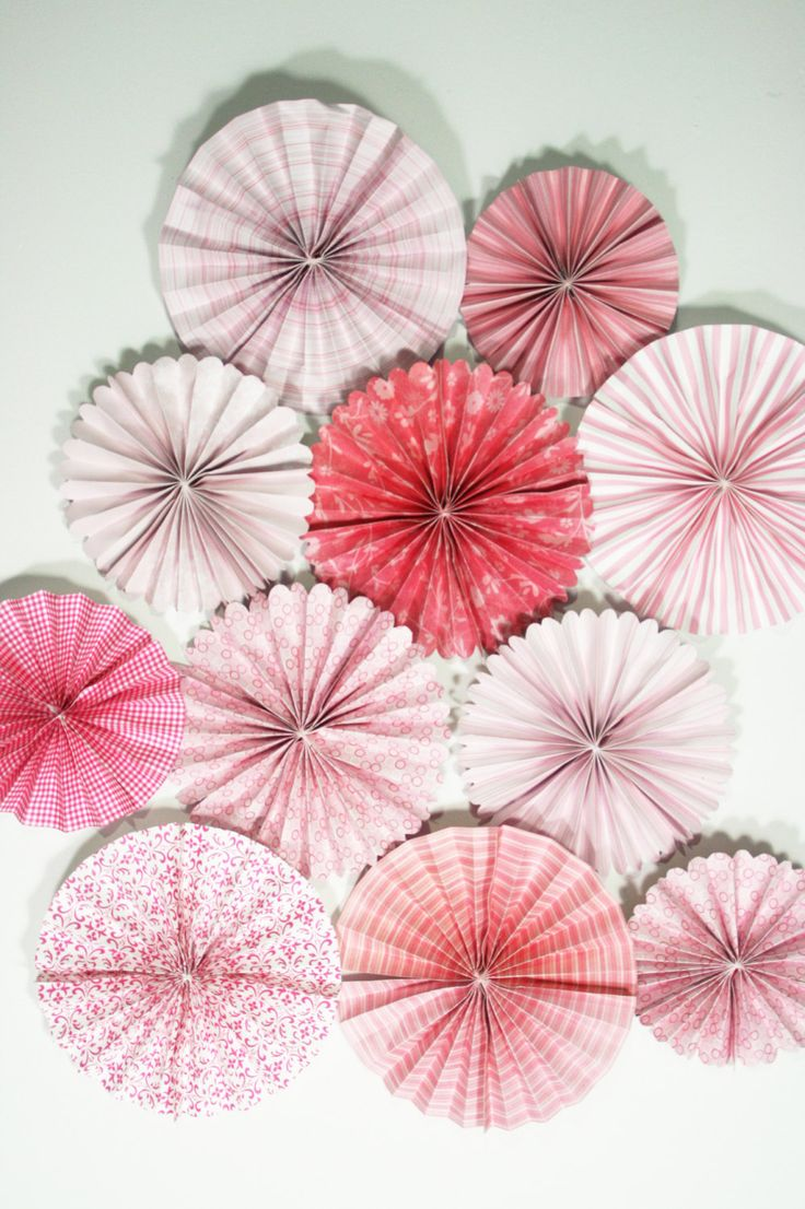 Wedding and Party Decoration Paper Fans Set of by HANDMADEbyELAY, $29.50