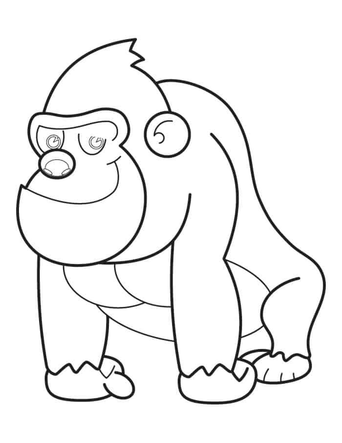 Silverback Gorilla Coloring Pages In 2020 Animal Coloring Pages Zoo Coloring Pages Dolphin Coloring Pages
