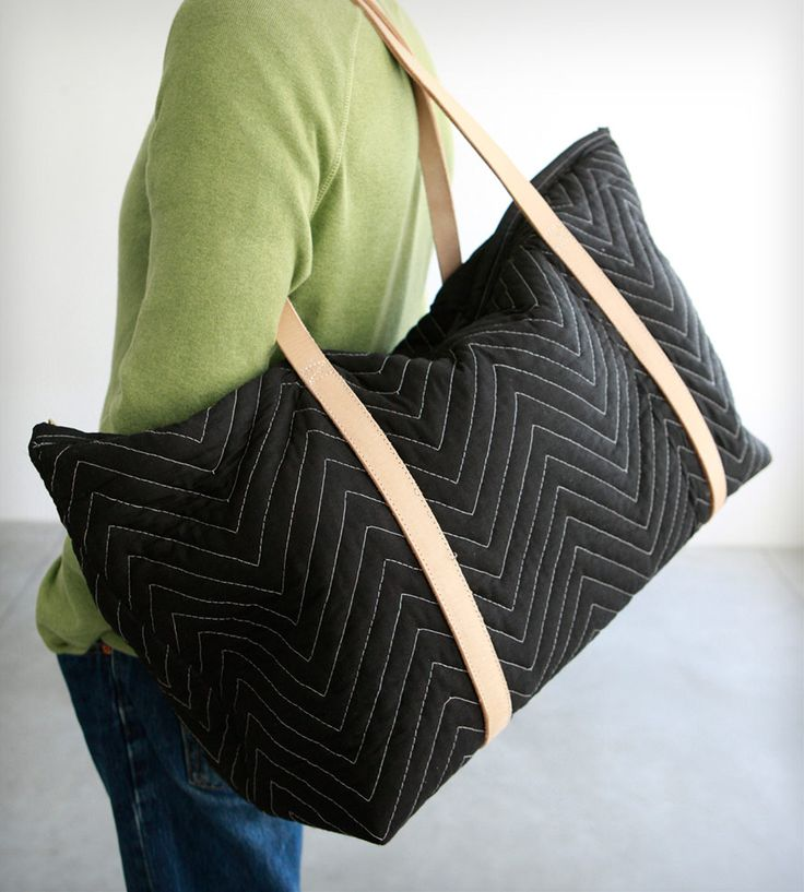 Repurposed Moving Blanket Weekender Bag by Chuck Routhier on Scoutmob