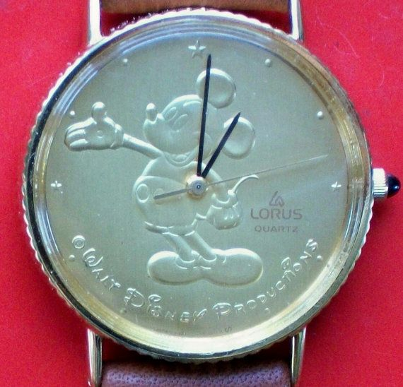 Disney Retired GOLD COIN Lorus Mickey Mouse Watch by DISNEYJEWELS