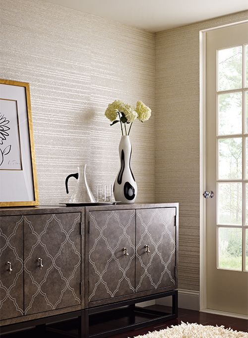 Woven Capiz Dn3799 Office Wallpaper Brown Wallpaper