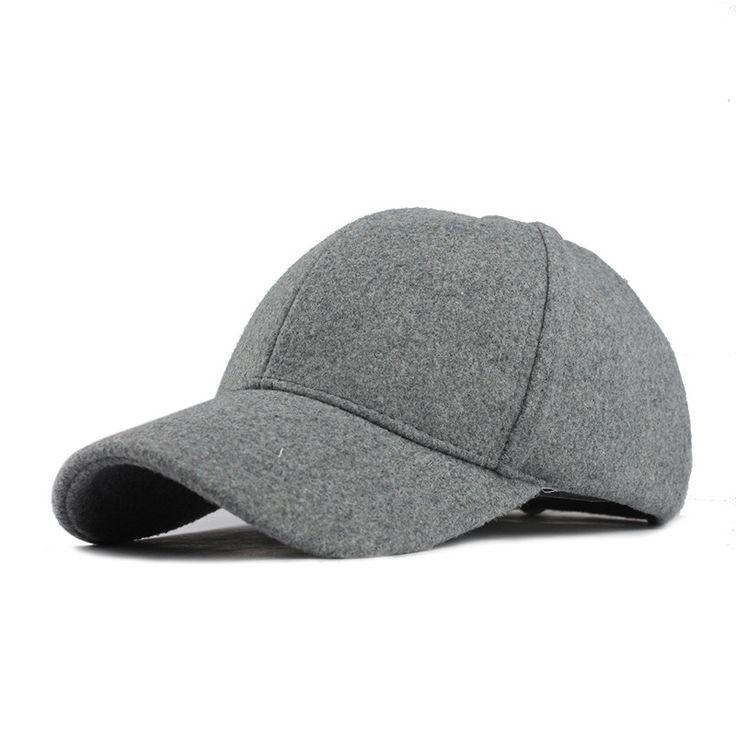 Cotton Baseball Cap Winter Cap Warm Bone Snapback Hat Gorras Fitted