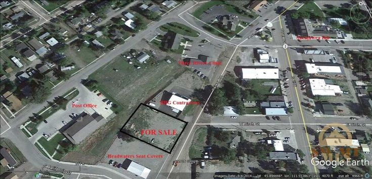 Great building lot located in center of Three Forks near Post Office, Main Street, Sacajawea Inn, and Three Rivers Medical Clinic.
