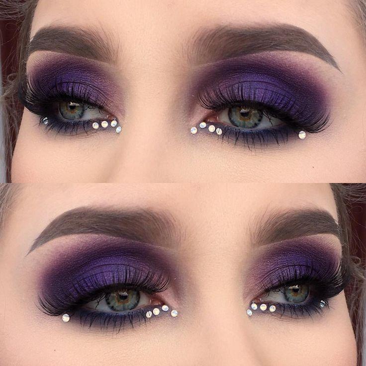 I used @urbandecaycosmetics electric palette | @lauramercier eye art artist's palette | @jnbeauty lashes oh wow | @vwalanailsupply gems | @anastasiabeverlyhills dipbrow pomade in taupe | #muashootingstar #mua #makeupartist #motd #eotd #vegasnay