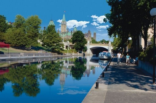 Ottawa, Canada-The Parliament is in the background.