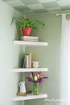 how to make floating corner shelves by not just a housewife rh pinterest com DIY Floating Shelves Floating Shelves Plans