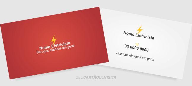 Cartão de visita eletricista grátis para download