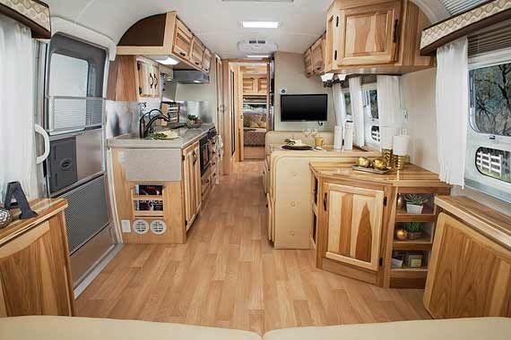 Airstream Classic travel trailer interior photo