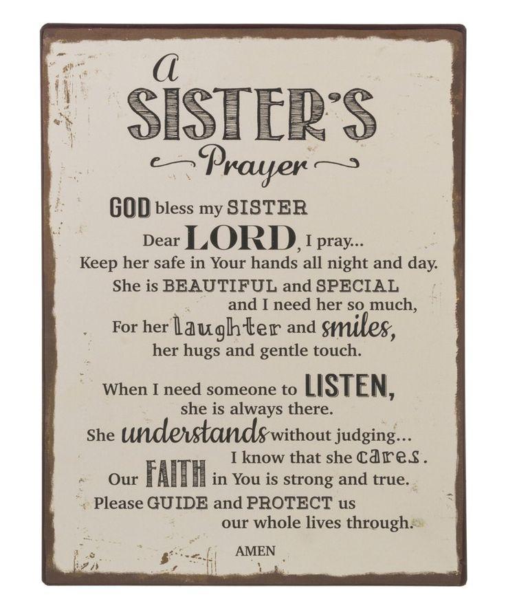 Prayer For My Sister Quotes: Best 25+ Sister Prayer Ideas On Pinterest