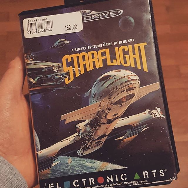 Awesome old game! Space exploration and meeting aliens! #flashbackfriday #fbf #flashback #game #console #cartridges #starflight #megadrive #genesis #gaming