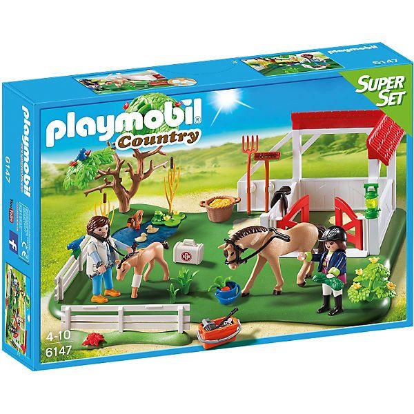 PLAYMOBIL® 6147 SuperSet Koppel mit Pferdebox, PLAYMOBIL Country | myToys