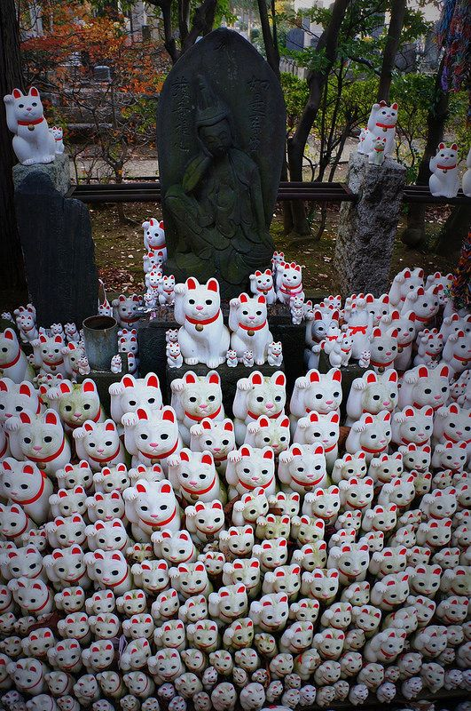 Gotoku-ji Temple, Setagaya, Tokyo, Japan I really need to get me a lucky cat