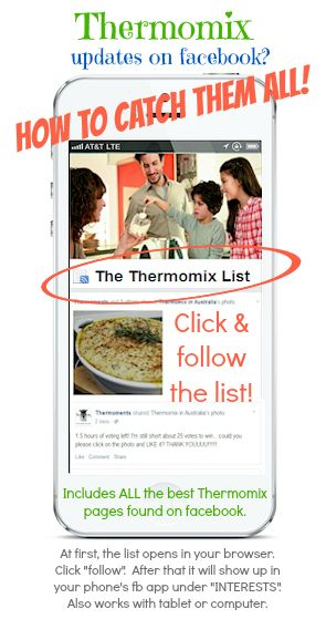 click to follow ALL Thermomix pages on facebook