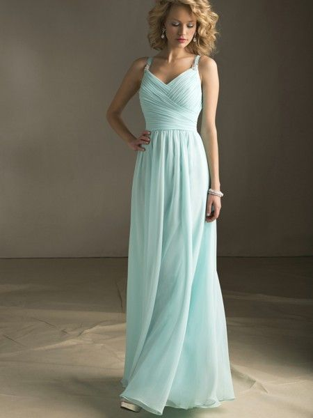 Grecian inspired Angelina Faccenda Bridesmaid Dress - I really like this color. It's so soft and ethereal .