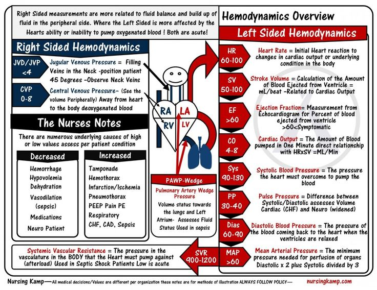 Hemodynamics Overview Nursing KAMP StickENotes MSK 052