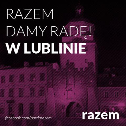Na ścianie wschodniej też jesteśmy Emotikon smile Jutro spotkanie w Lublinie. Kto stamtąd chciał się zgłosić, a jeszcze tego nie zrobił - teraz najwyższa pora! http://razemdamyrade.com KONTAKT LUBELSKIE Tomasz Warzocha – tel. 660 479 845 / mail twarzoch@gmail.com