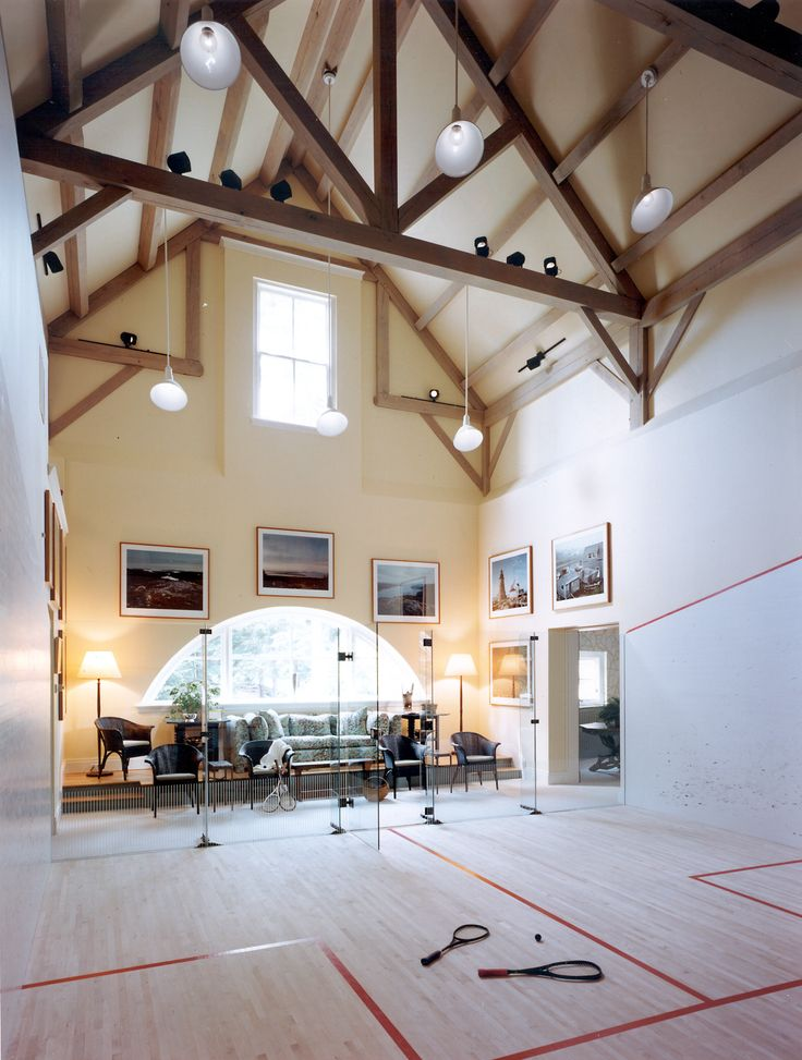 Squash Court in Maine by Robert A.M. Stern Architects, LLP