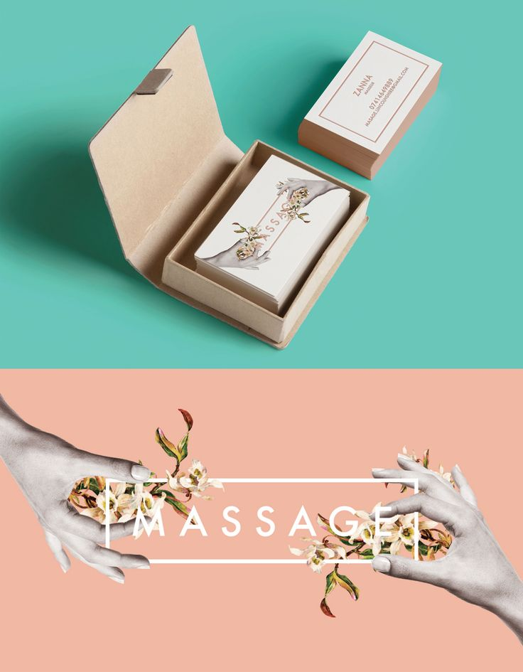 Business card - Massage  #design #print #collage