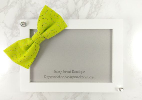 Lime Clip On Bow Tie  Baby Clip On Bow Tie  by SassySwankBoutique
